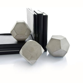Geometric Concrete Sculptures, Set Of Three Concrete Shapes