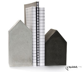 Set of Two Concrete House Bookends