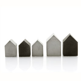 Mini Concrete House Sculpture Collection of 5