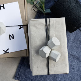 Concrete Hexagon Ornament Set of 6 or 12