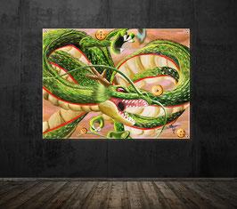 Dragon sacré aux 7 boules de cristal - version sous plexiglass