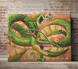 Dragon sacré aux 7 boules de cristal - version toile optimisée