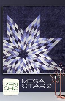 """PDF-Nähanleitung für den Quilt """"Mega Star 2"""" von Zen Chic"""
