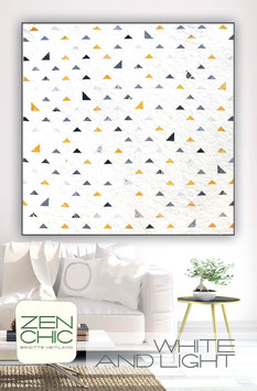 PDF-Nähanleitung für den Quilt White and Light von Zen Chic