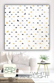 PDF-Nähanleitung für den Quilt White and Light von Zen Chic