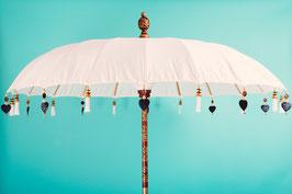 Luxe editie Bali parasol, breedte 180 cm, 250 cm en 300 cm kleur crème,