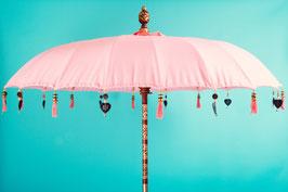 Luxe editie Bali parasol, breedte 180 cm of 250 cm, kleur licht roze