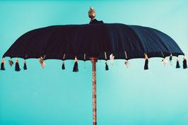 Luxe editie Bali parasol, formaat 180 of 250 cm, zwart