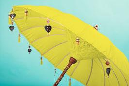 Luxe editie Bali parasol, breedte  180 cm, kleur geel