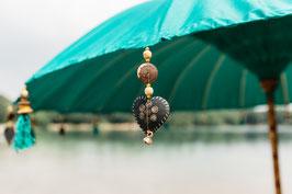 Luxe editie Bali parasol, breedte 180 cm of 250 cm, kleur turquise groen