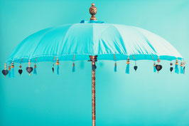 Luxe editie Bali parasol, breedte 180 cm , 250 cm en 300 cm, kleur zee blauw