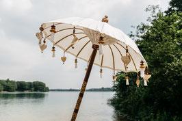 Luxe editie Bali patio parasol, breedte 110 cm, in diverse kleuren