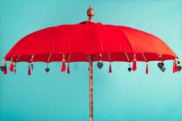 Luxe editie Bali parasol, breedte  180 cm of 250 cm, kleur rood