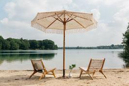 Exclusieve handgeknoopte parasol, formaat 250 cm