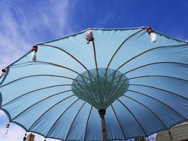 Luxe editie Bali parasol, breedte 180 cm of 250 cm, kleur mintblauw