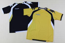 カッパ プラクティスシャツ ¥1,600 KF612TS01 (413Rブラック、Tイエロー)