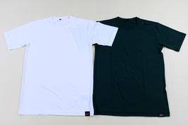 ゼット 丸首半袖アンダーシャツ ¥1,000 BO1410A (425Aホワイト、Bグリーン)