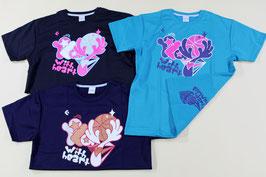 コンバース レディス半袖Tシャツ(バスケット柄) ¥1,000 CB351305 (554Yアクア、Zネイビー)