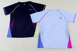 アンブロ レディスTシャツ ¥1,600 UCS7649W (550Nカーボン、K OBNライトグレー)