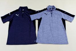 プーマ ハーフジップシャツ ¥2,900 655266 (40Kブラック、Pグレー)