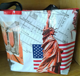 Wachstuchtasche / Shopper Gina  American