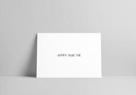 handgeschriebener Neujahrsgruß auf Risographie-Postkarte im Format A6