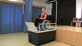 Rollstuhl-Scheren-Hublift