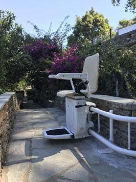 Außen-Treppenlift - kurvige Treppen