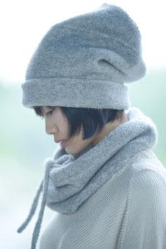 霞創るニット帽 gray
