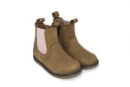 CHELSEA BOOT taupe/rosa