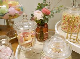 Vase rosa rund