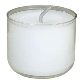 Teelicht Acryl weiß 12h