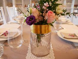 Vase gemustert rosegold