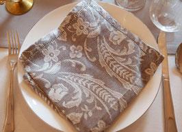 Baumwollserviette gemustert