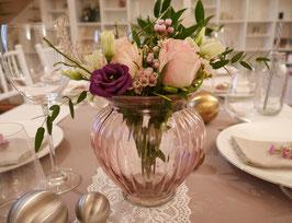 Vase bauchig gerillt