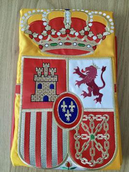 Bandera Interior Doble Raso Bordado España, máxima calidad.
