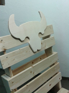 Steckstuhl - Aufsteckelement Bullenkopf