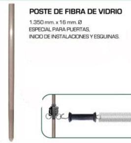 POSTE FIBRA DE VIDRIO ESPECIAL PUERTAS