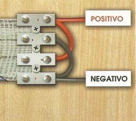 Regleta especial para conexión pastor eléctrico caracoles.