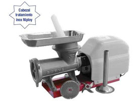 Picadora-embutidora eléctrica nº 32  boca ovalada extra ancha tipo Niploy,REF:025