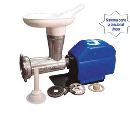 Picadora-embutidora eléctrica nº 32 con cabezal desmontable de doble corte tipo Unger REF:073