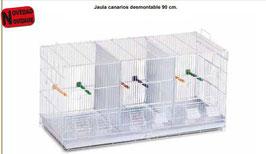 Jaula canarios desmontable 90 cm REF: 669