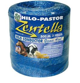 HILO CONDUCTOR AZUL  3 HILOS 500 METROS REF:HIL-500