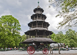 Postkarte: Chinesischer Turm