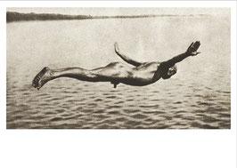 Postkarte: Der Überflieger