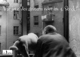 Postkarte: War jetz` des gestern