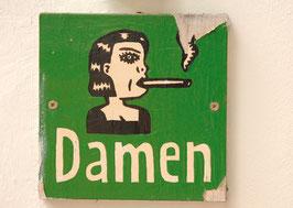 Postkarte: Rauchende Damen