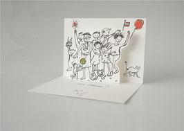Pop Up Karte:  ... vom Herzen.(für alle wichtigen Gelegenheiten)