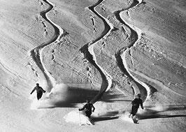 Postkarte: Skitour