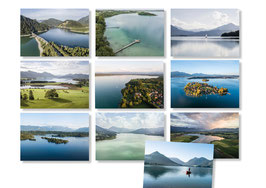 10er Oberbayrische Seen Postkarten Set